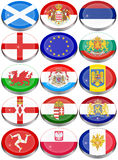 Flags of the Europe. Set of icons. Flags of the Europe Royalty Free Stock Image