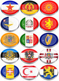 Flags of the Europe Stock Photography
