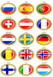 Flags of the Europe Royalty Free Stock Images