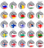 Flags of the Europe Stock Photo