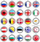 Flags of the Europe Royalty Free Stock Image