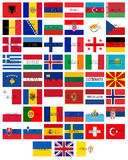 Flags of Europe Words Royalty Free Stock Photos