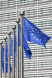 Flags at European Commission in Brussels Royalty Free Stock Image
