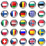 Flags of European countries Royalty Free Stock Photos