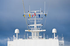 Flags of european countries on navigation antenna Royalty Free Stock Image