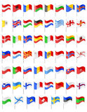 Flags of European countries vector illustration Stock Photography