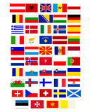 Flags of European countries Stock Photo