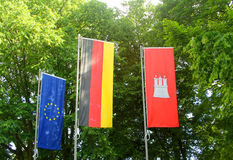 The flags Royalty Free Stock Photography