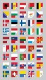 Flags of European States. On grey Stock Image