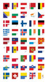 Flags of European States Royalty Free Stock Image