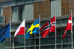 Flags of European states Royalty Free Stock Photography