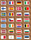 Flags of the european union countries Royalty Free Stock Images