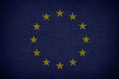 Flags of the European Union. EU Royalty Free Stock Photos