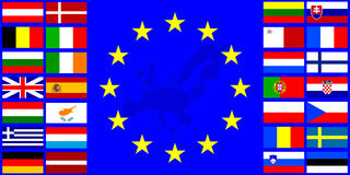 Flags of the European Union Stock Images