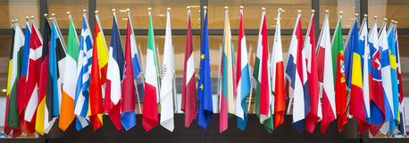 Flags of the European Union Royalty Free Stock Images