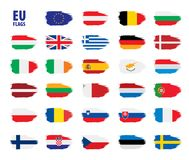 Flags of the european union. Vector illustration Stock Photography