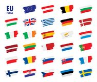 Flags of the european union. Vector illustration Royalty Free Stock Image