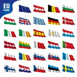Flags of the european union. Vector illustration Stock Images