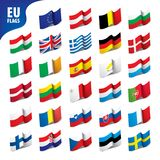 Flags of the european union. Vector illustration Royalty Free Stock Photo