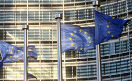 Flags of European Union Royalty Free Stock Photography