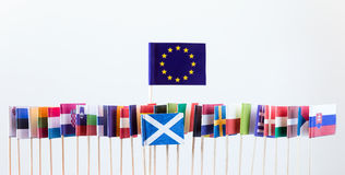 Flags of the european union members Royalty Free Stock Photography