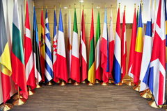 Flags of the European Union members Stock Image