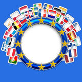 28 flags of european union vector Stock Photography