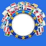 28 flags of european union vector. Vector illustration of 28 flags of european union vector Stock Photography
