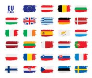 Flags of the european union. Vector illustration Stock Image
