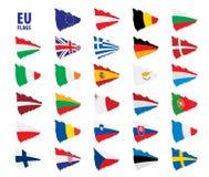 Flags of the european union. Vector illustration Stock Photo