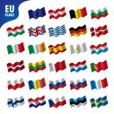 Flags of the european union. Vector illustration Royalty Free Stock Photos