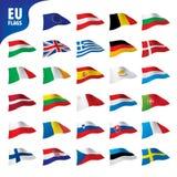 Flags of the european union. Vector illustration Stock Photos