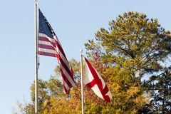 Two flags Royalty Free Stock Photos