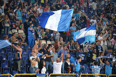 Flags of FC Dnipro Stock Photography