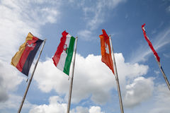 Flags of federal states, Germany Royalty Free Stock Images