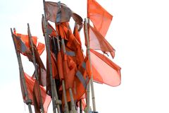 Flags of a fisherman Royalty Free Stock Photography