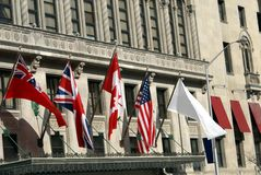 Flags. the flag of the United Kingdom, Canada, & USA Stock Images