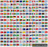 Flags flat sets Stock Photos
