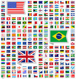 219 flags. Flat vector illustration Royalty Free Stock Photos