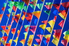Flags flying-in Royalty Free Stock Photo