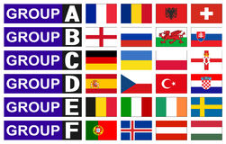 Flags football groups Stock Image