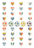 Flags in the form of heart royalty free stock images