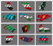 Flags in the form of states Stock Image