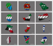 Flags in the form of states Stock Photo