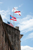 Flags on Fort Wall Stock Photos