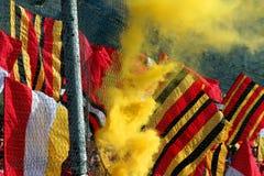flags fotboll Fotografering för Bildbyråer