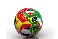 flags fotboll Arkivbild
