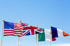 The flags Royalty Free Stock Photos