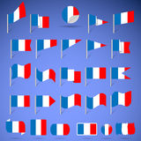 Flags of France Royalty Free Stock Images