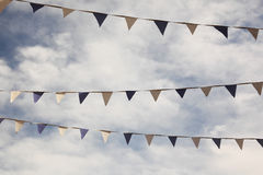 Flags in front of clouded sky Royalty Free Stock Images